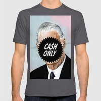 CA$H ONLY Mens Fitted Tee Asphalt SMALL
