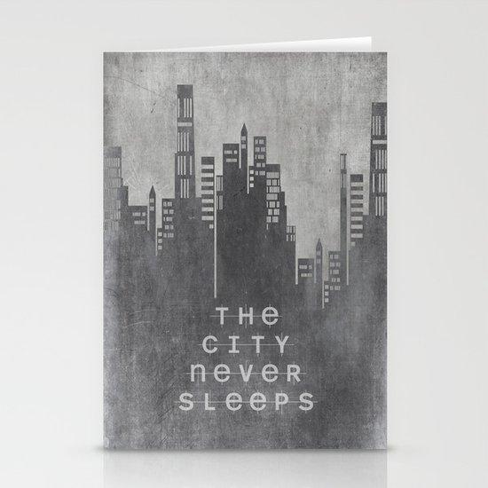 The City Never Sleeps Stationery Card