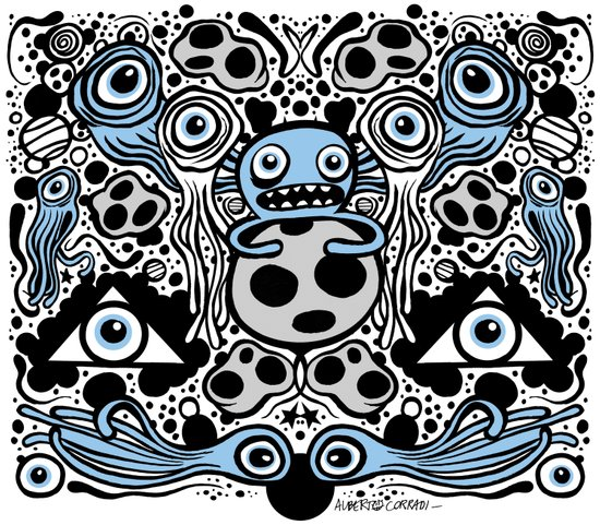 Panopticon Space (White Version) Art Print