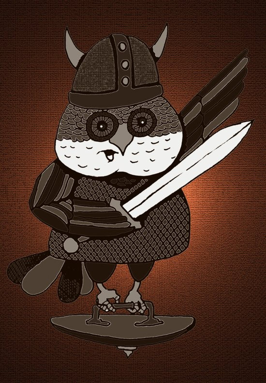 The Wisest Viking Was an Owl Art Print