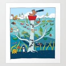 going to sea Art Print