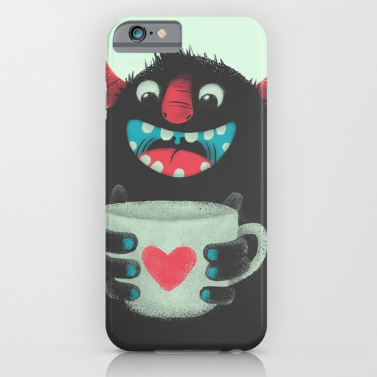 Demon with a cup of coffee iPhone & iPod Case