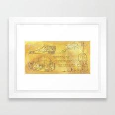 POEM OF SPACESHIP Framed Art Print