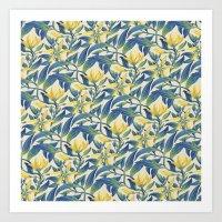 Vanilla flowers Art Print