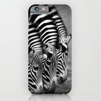 iPhone & iPod Case featuring zebras by Marianna Tankelevich