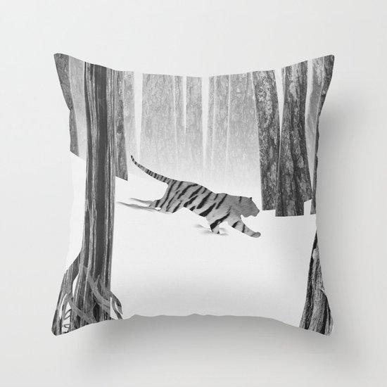 Martwood Tiger Throw Pillow