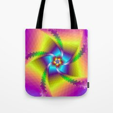 Whirligig in Yellow Blue and Green Tote Bag