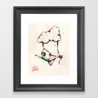 Flying Trapeze Framed Art Print