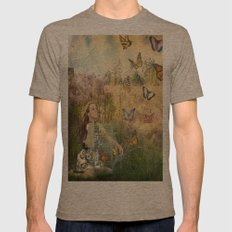 Release of the butterflies Mens Fitted Tee Tri-Coffee SMALL
