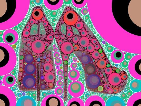Disco Heels Art Print