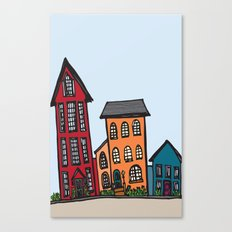 TownHouses Canvas Print