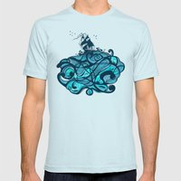 Upon The Sea Mens Fitted Tee Light Blue SMALL