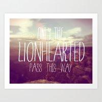 LIONHEARTED // Art Print