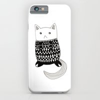 iPhone & iPod Case featuring Cat with pattern  by YumeYue