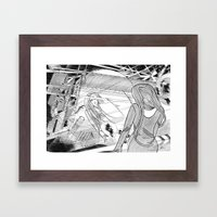 Midnight Blossom / Origi… Framed Art Print