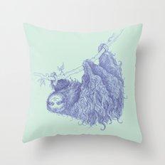 Slothy Throw Pillow