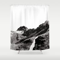 The road below the mountains Shower Curtain