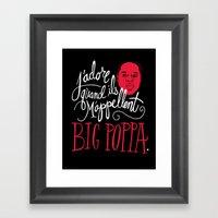 French Poppa Framed Art Print