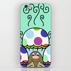 Cute Monster With Pink And Blue Polkadot Cupcakes iPhone & iPod Skin