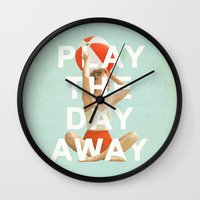 Play The Day Away Wall Clock