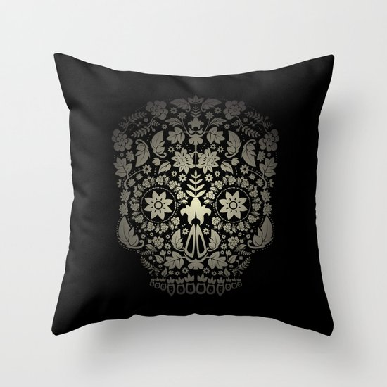 Day of the Dead Skull No.16 Throw Pillow