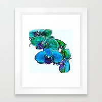 :: Orchids By The Sea :: Framed Art Print