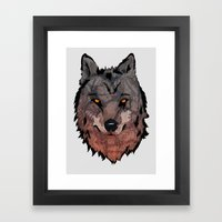 Wolf Mother Framed Art Print