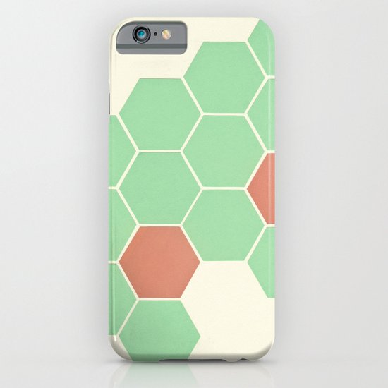 Mint Honeycomb iPhone & iPod Case