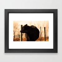 Moo'n around Framed Art Print