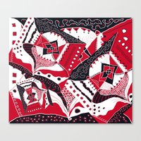 TRICHROMATIC DELIRIUM RED BLACK WHITE Canvas Print
