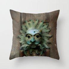 Sanctuary Knocker Throw Pillow