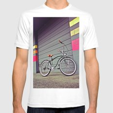 Gritty City Cruiser White Mens Fitted Tee SMALL