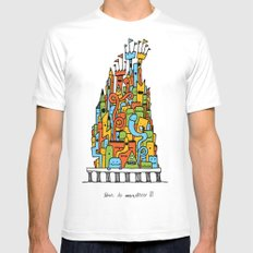 Monster Tower III Mens Fitted Tee SMALL White