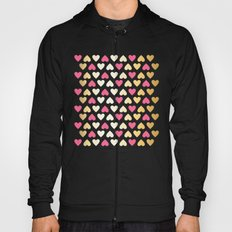 Faux Gold & Pink Hearts  Hoody