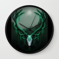 Wild Horns Wall Clock