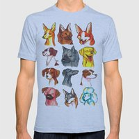 Brush Breeds Compilation 2 Mens Fitted Tee Athletic Blue SMALL