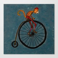 Penny Farthing Pete Canvas Print