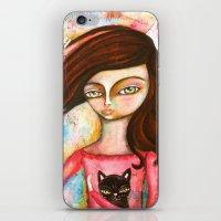 The Black Cat Princess iPhone & iPod Skin