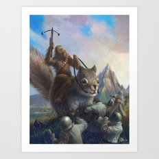fur on fur Art Print