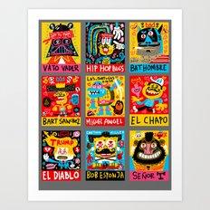 Border Bang color comps 1 Art Print