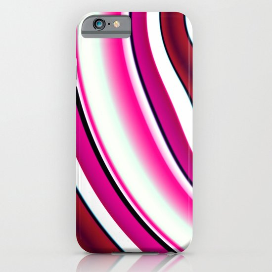 Pink red white iPhone & iPod Case