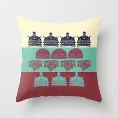 Robots don't like stairs (R2D2, Johnny 5 & The Dalek) Throw Pillow