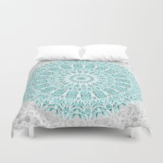 A Glittering Mandala  Duvet Cover