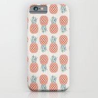 mandala iPhone & iPod Cases featuring Pineapple  by basilique