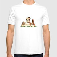 Bread Winner Mens Fitted Tee White SMALL