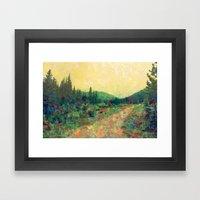 Miles To Go Before I Sle… Framed Art Print