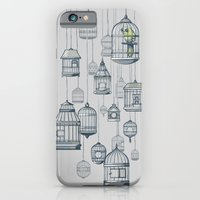 iPhone Cases featuring Last Bird in the Shop by jewelwing