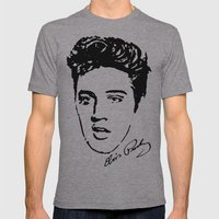Elvis! Mens Fitted Tee Athletic Grey SMALL