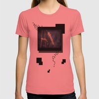 Evening Grass Womens Fitted Tee Pomegranate SMALL