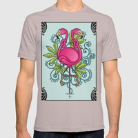 Knot A Flamingo Mens Fitted Tee Cinder SMALL